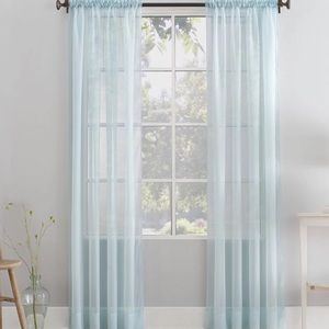 Better Homes And Gardens Accents - Two sets of blue curtains